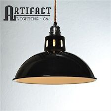 Black Factory Pendant Set Lamp Shade Light Vintage Industrial Modern