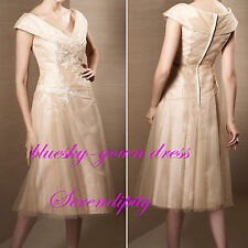 Short Mother Of The Bride Dress Evening Prom Gown Bridesmaid Dress Size 0-10-14+