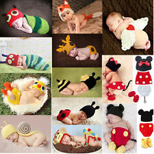 HANDMADE HOT NEWBORN BABY GIRL BOY CROCHET CLOTHES PHOTO PHOTOGRAPHY PROP OUTFIT