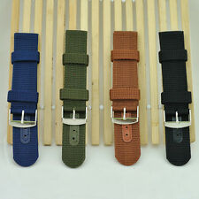 Cool Men's Boy's Military Army Nylon Wrist Watch Band Strap 18-24mm 4 Colors
