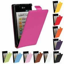 Genuine Leather Candy Flip Magnet Shockproof Cover Case For LG P705 Optimus L7