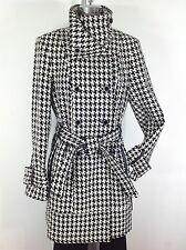 Calvin Klein New W Tag One of the Top 5 Double Breasted Women's Houndstooth Coat
