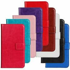 Deluxe Flip Leather Wallet Card Case Cover Pouch with Stand for Android Phones