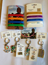 GLASGOW XX COMMONWEALTH 2014 GAMES  METAL KEYRING PIN BADGE AND WRISTBAND