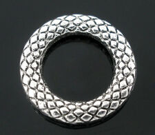Wholesale Lots Soldered Closed Jump Rings Silver Tone 14mm Dia.
