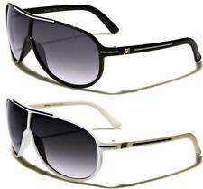 NEW BLACK SUNGLASSES DESIGNER MENS LADIES BOYS RETRO VINTAGE AVIATOR WRAP UV400
