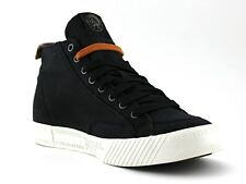 DIESEL Mens D-78 MID Black Mid-Top Canvas Sneakers Size 9 US
