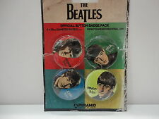 THE BEATLES OFFICIAL MERCHANDISE BADGE PACK (4 COLOURS)