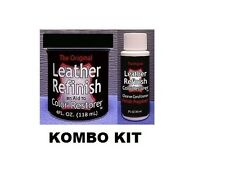 Leather Refinish Color Restorer Dye & Cleaner/Conditioner-Preparer Combo Kit NEW