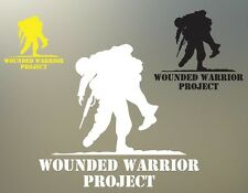 """(2) 7"""" wounded warrior project ARMY veteran decal vinyl sticker NEW DONATE S791"""