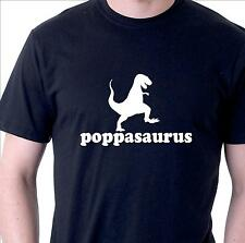 funny t-shirt. poppasaurus. Dad  Father Grandfather gift t-shirt with dinosaur