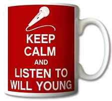 KEEP CALM AND LISTEN TO WILL YOUNG GIFT MUG CARRY ON COOL BRITANNIA RETRO CUP