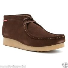 Clarks Stinson Hi Men's Wallabee Style Leather Casual Shoes 63369 Brown Suede