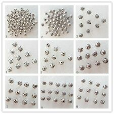 50Pcs Carved Tibet silver loose bead Pendant bead S-16