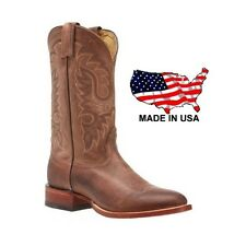 NOCONA Mens Legacy Coyote Brown Leather Round Toe Cowboy Boots MD2736 NIB