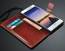 for Huawei Ascend P7 PU Leather Flip Pouch Wallet Stand Case Cover