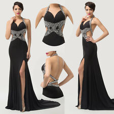 Women Celebrity Dresses Sexy Sequin Split Evening Gown Dress Prom Cocktail Party