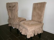 "Soft Micro Suede Shortly Dining Chair Covers fit 39""- 42""H back chair more color"