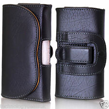 Universal PU Leather Bag Belt Loop Hook Cover Holster Pouch For Mobile Phone
