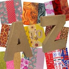 10cm Small Papier Mache Letters with  Option to Add Decopatch Paper!+Free P/P