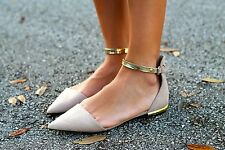 ZARA *Taupe Pointy Shoes With Ankle Strap* NEW_UK3_4_5_6_7_8