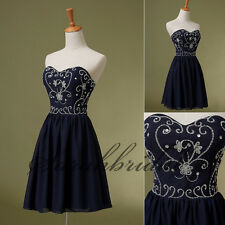 2014 Cheap Blue Chiffon Short Homecoming Dresses Graduation Prom Party Mini Gown