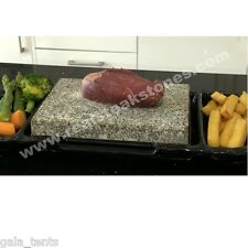 Steak On Stones Cooking Steaks Hot Rock Grill Plate - Black Stone + Dish Set