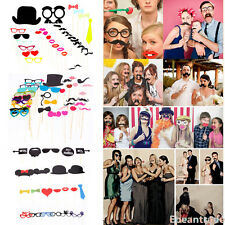 FUN DIY Photo Booth Props On A Stick Christmas Birthday Weddings Party Moustache