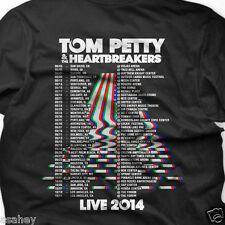 TOM PETTY & HEARTBREAKERS LIVE TOUR 2014 Custom 2 Side Print Black T Shirt S-3XL