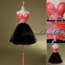 Black Girls Short Homecoming Dresses Women Cheap Tulle Mini Prom Pageant Gowns
