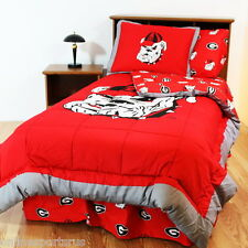 Georgia Bulldogs Comforter and Sham Set Reversible Twin Full Queen King