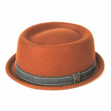 Dasmarca Jack Wool Felt Stingy Brim Winter Telescope Crown Porkpie Hat