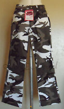 Womens Camo Pants Black-White-Gray-Olv Green 5 Sizes  By ROTHCO