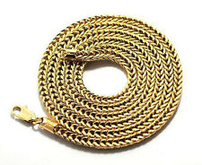 MENS 4MM 14K GOLD PLATED PREMIUM QUALITY HIP HOP FRANCO CHAIN NECKLACE