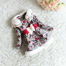Baby Girls Kids Pastorale Soft Outwear Child Thicken Lace Jacket Slim Lined Coat
