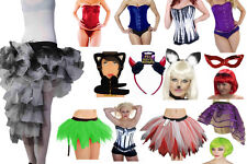 Women Halloween Tutu Stripe Sock Wig Face Paint Vampire Witch Devil Horns Corset
