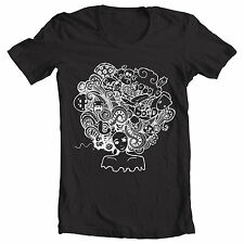 """Black """"Crazy Afro"""" retro 70's Foxy brown Pam Grier Jackson 5 inspired T Shirt"""