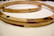 """Wood Snare Drum Wooden replacement Rims Hoops pair 14"""" inch 8 sub for die cast"""