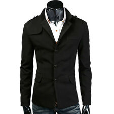 HOT NEW Men Warm Winter Coat Trench Coat Outerwear Jacket Overcoat Black/Grey