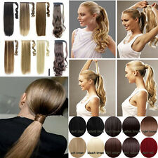 "Any Colours 18"" 22"" 95g Clip In Ponytail Hair Extension Real Synthetic hairpiece"