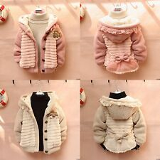 Baby Toddler Girls Hoodie Cardigan Jacket Coat Knit Sweater Outwear Clothes 2014