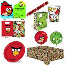 Angry Birds Complete Childrens Party Tableware Decorations Table Plates Cups