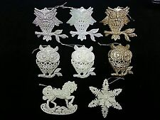 Christmas Sparkle Glitter XMAS Hanging Decorations Ornaments Owl Snowflake Horse