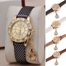 1x Split New Swan Pendant Watch Women Rhinestone Quartz Ladies WristWatch