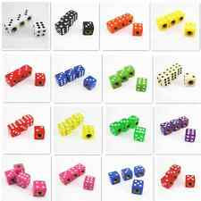 Many Colored Dice Style Auto Wheel Tyre Tire Valve Stems Air Dust Caps Covers