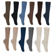 Mens Cotton Socks Non Elastic UK 6-11 Lot of 3 6 or 12 Pairs Assorted Colours
