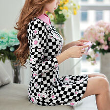 2014 Autumn Winter OL Classic Black White Plaid Long Sleeve Print Women's Dress