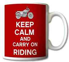 KEEP CALM AND CARRY ON RIDING -	MUG/CUP/PRESENT/GIFT
