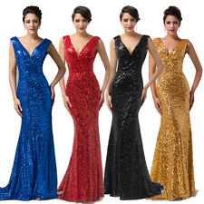 Hot Deal~ V Formal Long Ball Gown Party Prom Bridesmaid Evening Dress Size 6-20