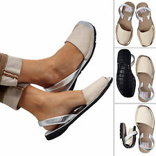 WOMEN ABARCAS SANDALS,SILVER ABARCAS MENORQUINAS, WOMEN SIZES  {MBIOWMY_CR_SI}
